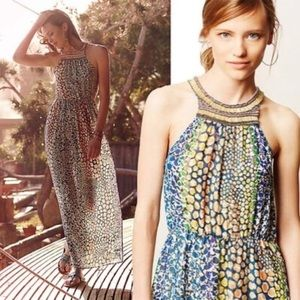 Anthropologie | HD in Paris colorful maxi dress